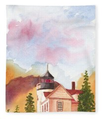 Maine Lighthouse In Morning Light Fleece Blanket