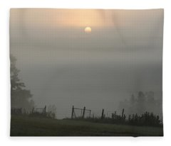 Maine Morning Fleece Blanket