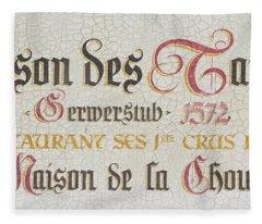 Maison Des Tanneurs Crackle Sign Fleece Blanket