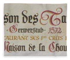 Maison Des Tanneurs Sign Fleece Blanket