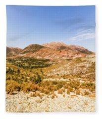 Majestic Arid Peaks Fleece Blanket