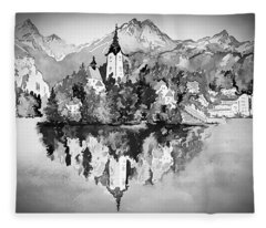 Majestic Bled Island  Fleece Blanket