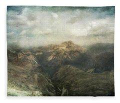 Majestic Dolomites Fleece Blanket