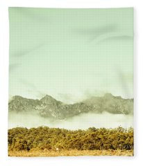 Majestic Misty Mountains Fleece Blanket