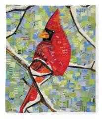 Majestic Red Cardinal  Fleece Blanket