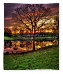 Majestic Sunrise Reflections Art Fleece Blanket