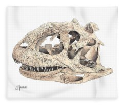 Majungasaur Skull Fleece Blanket