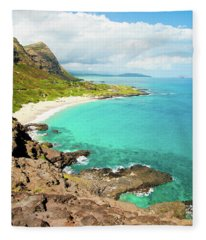 Makapu'u Beach Fleece Blanket