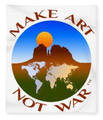 Make Art Not War Logo Fleece Blanket