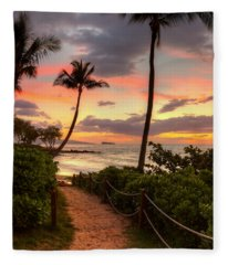 Makena Sunset Path Fleece Blanket
