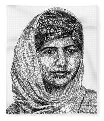 Malala Yousafzai Fleece Blanket