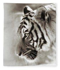 Malayan Tiger Fleece Blanket