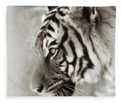Malayan Tiger Fleece Blanket