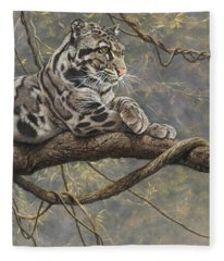 Male Clouded Leopard Fleece Blanket