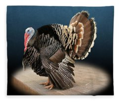 Male Turkey Strutting Fleece Blanket