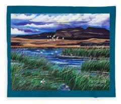 Malhuer Bird Refuge Fleece Blanket
