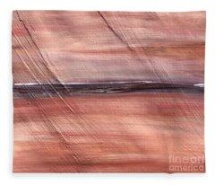 Malibu #32 Seascape Landscape Original Fine Art Acrylic On Canvas Fleece Blanket