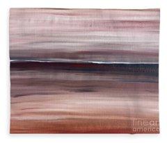Malibu #33 Seascape Landscape Original Fine Art Acrylic On Canvas Fleece Blanket