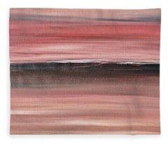 Malibu #34 Seascape Landscape Original Fine Art Acrylic On Canvas Fleece Blanket