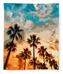 Malibu Beach - Heaven's Sky Fleece Blanket