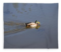 Mallard Duck Burgess Res Co Fleece Blanket