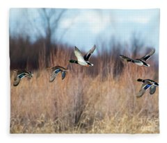 Mallard Flight Fleece Blanket