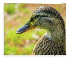 Mallard Portrait - Female Fleece Blanket