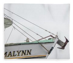 Malynn Fishing Boat  Fleece Blanket