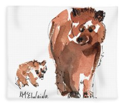 Mama And Baby Series Bear Fleece Blanket