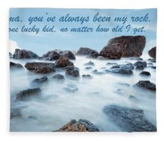 Mama, You've Always Been My Rock - Mother's Day Card Fleece Blanket
