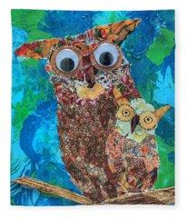 Mamma And Baby Owl Fleece Blanket