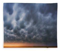 Mammatus Over Madrid Fleece Blanket