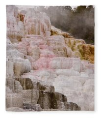 Mammoth Hot Springs Fleece Blanket