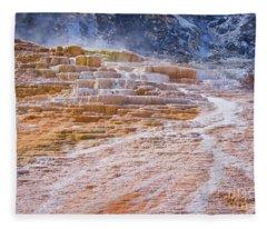 Mammoth Terraces Of Yellowstone Fleece Blanket