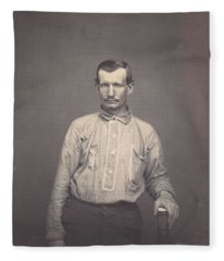 Man Holding Patent Office Book , Attributed To Oliver H. Willard Fleece Blanket