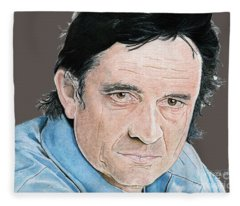 Man In Black Fleece Blanket