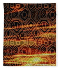 Man One Tribe Under God Fleece Blanket