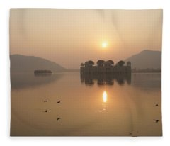 Man Sagar Lake Fleece Blanket
