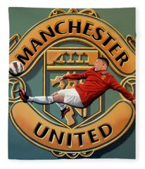 Manchester United Painting Fleece Blanket