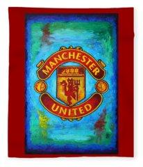 Manchester United Vintage Fleece Blanket