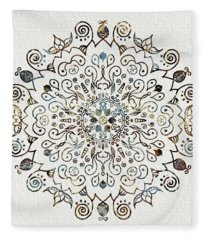 Mandala Earth And Water 4 Fleece Blanket