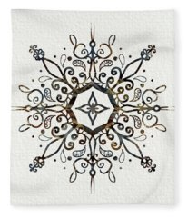 Mandala Earth And Water Fleece Blanket