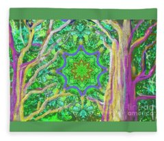 Mandala Forest Fleece Blanket