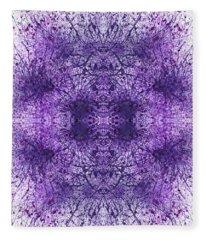 Mandala Kaleidoscope #1163 Fleece Blanket