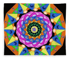 Mandala Fleece Blanket