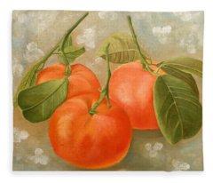 Mandarins Fleece Blanket