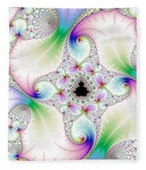 Mandebrot In Pastel Fractal Wonderland Fleece Blanket
