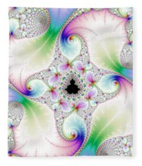 Mandebrot In Pastel Fractal Wonderland Fleece Blanket