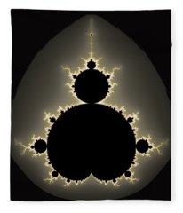 Mandelbrot Set Square Format Art Fleece Blanket