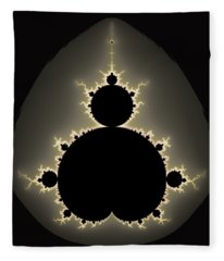 Mandelbrot Set Square Format Art Fleece Blanket